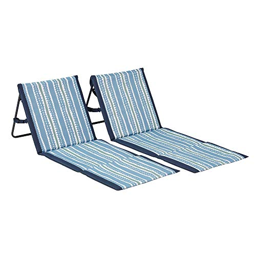 Lightspeed Outdoors 2-Pack Lounger Park and Beach Chair (Mud Stripes)