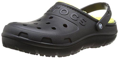 Crocs Unisex-Erwachsene Hilo Lined Sabot U Clogs, Schwarz (Black/Burst), 39-40