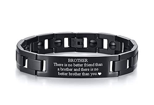 PJ JEWELLERY to My Brother Geschenk Armband Männer Inspirierende Nachricht Gravierte Armband Geschenkidee an Schwager Abschlussfeier Geburtstagsgeschenk von Schwester Bruder