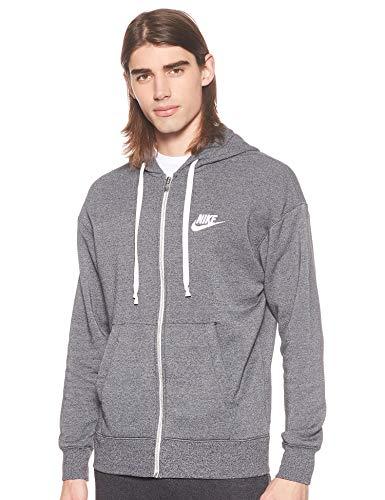 Nike Herren Sportswear Heritage Hoodie Full-Zip, Black/Heather/Sail, M