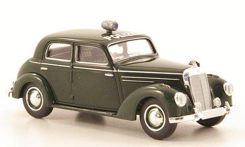Mercedes 220 Limousine (W187), Polizei, dkl.-grün, Modellauto, Fertigmodell, Brekina Starmada 1:87
