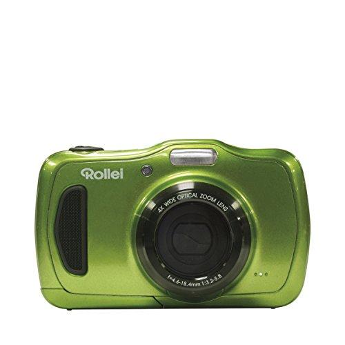 Rollei Sportsline 60 - vielseitige Digitalkamera mit 5 MP, 8-fach digitalem Zoom, 6 cm Display (2,4 Zoll), bildstabilisiert, spritzwasserfest und wasserdicht bis 3m - Grün