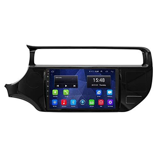 4 (8) Core GPS Navigation Pantalla Táctil De 9 Pulgadas Player Multimedia para KIA Rio 2012-2016, Android 8.1 Double DIN/BT/WiFi/MirrorLink/SWC/Cámara De Vista Trasera,2015-2016-4 Core WiFi: 1+16G
