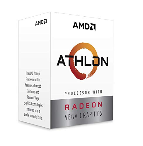 AMD YD220GC6FBBOX Athlon 220GE 2 Core 4-Thread-Prozessor mit Radeon-Vega-Grafik