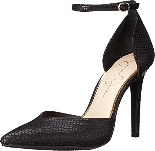 Jessica Simpson Women's Cirrus Dress-Pump Wedge Sandal, Black Snake, 11 M US