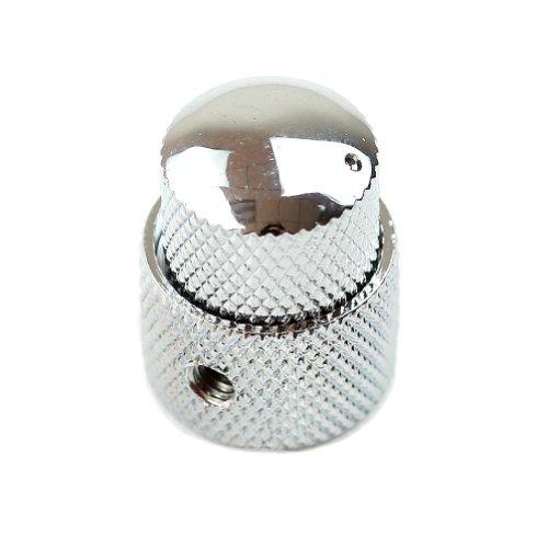 SUCHUANGUANG Tapa de potenciómetro de cúpula de Metal con Doble Perilla concéntrica Guitarra eléctrica, Perilla de botón de Volumen de Tono bajo S