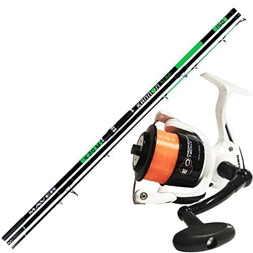 agc Maver Canna Pesca Surf Kannon 420 150gr + Mulinello Evo 8000 Filo