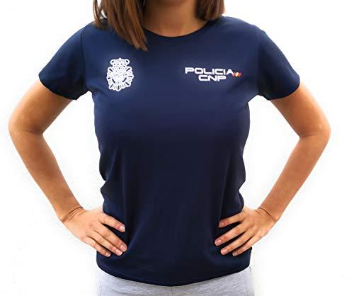 CNP Camiseta técnica para Mujer de Deporte para Entrenamiento policí