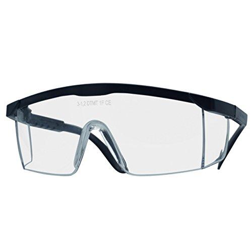 Schutzbrille Laborbrille Arbeitsbrille nach DIN 166 UV-Schutz Hitzebeständig Transparent Blau – 1 Stück