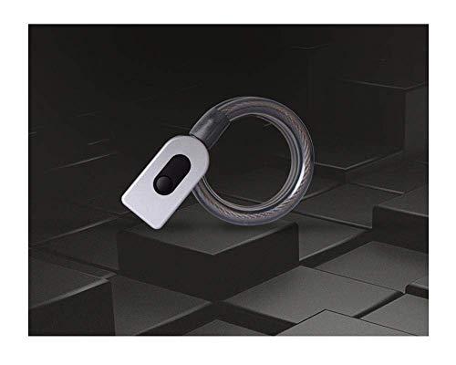 Cerradura de acero del anillo de cerradura de la huella bloqueo antirrobo bicicleta de carretera cerradura de acero del cable fijo de bicicletas de bloqueo @ gris claro FDWFN ( Color : Light Grey )