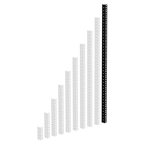 61535B20 Rackschiene, schwarz gestanzte L�cher, 20 HE