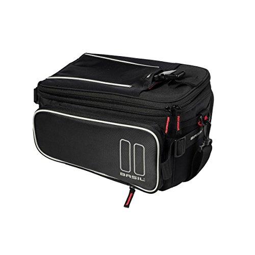 Basil Unisex– Erwachsene Sport Design Gepäckträgertasche, Black, 36 cm x 26 cm x 18 cm