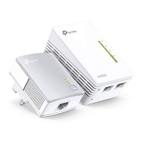 TP-Link TL-WPA4220KIT 2-Port Powerline Adapter WiFi Starter Kit, Range Extender, Broadband WiFi Extender, WiFi Booster Hotspot, No Configuration Required, UK Plug