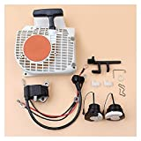 Rendimiento estable Reboil Starter Air Conductor Ignition Bobina Cap de aceite de combustible Kit para ST-IHL MS250 MS230 MS210 MS 250 230 210 Piezas de motosierra Durable