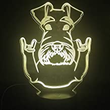 3D Lamp Dog Face Cute Animal Award for Birthday Decoration Atmosphere Bluetooth Speaker Base USB Led Night Light Lamp
