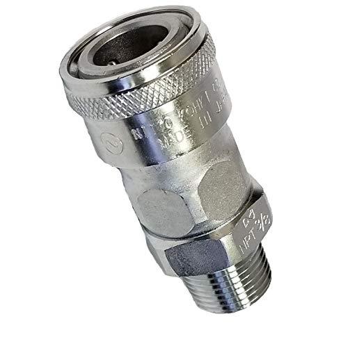 Nitto Kohki Hi Cupla 40PF-NPT Quick Connect Pneumatic Coupler Plug Steel Female 1//2 Size 218 PSI NPT Thread