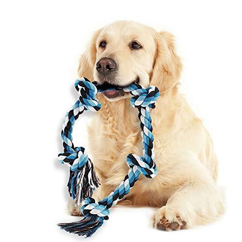 Robustes Hundespielzeug für Große Hund – Spieltau mit Knoten für Aggressives Kau, Kauseil aus Reine Baumwolle, Kauspielzeug Robust zur Zahnreinigung, Unzerstörbare Hunde Spielzeuge, Kauen Spielzeug