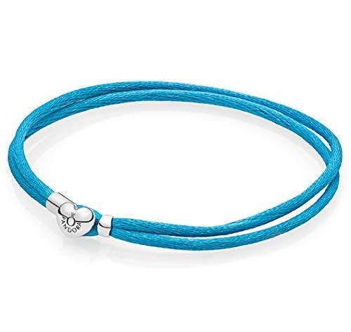 Pandora Damen-Armband Türkis 18 cm 590749CTQ-S2