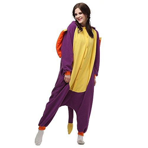 BGOKTA Disfraces de Cosplay para Adultos Pijamas de Animales One Piece prpura, M