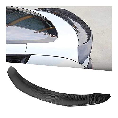 DAJIJI Parrilla Frontal, Fibra de Carbono Transporte Trasero Spoiler Spoiler Refit for V3 Style Glossy Black Fit para Tesla Model3 2016 y UP