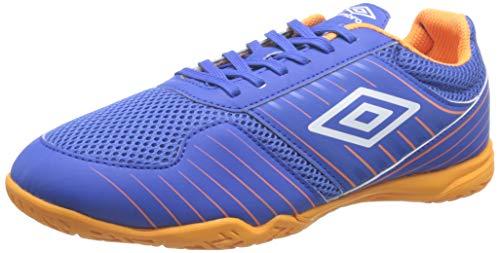UMBRO Vision Liga, Chaussures de Futsal Homme, Bleu (TW Royal/White/Turmeric GZB), 45 EU