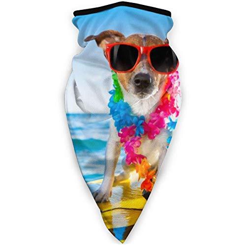 shenguang Dog On Surf Board Mascarilla Facial a Prueba de Viento Mascarilla Deportiva Bufanda Pasamontañas Exterior Cubierta Facial