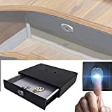 EFGS Fingerprint Password Cassetto Cassaforte, Intelligente Nascosta Cassetto, Adatto A Case E Uffici