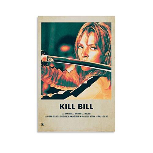 FGDFS Kill Bill 3 Peinture à l'huile sur toile Poster et impressions Décoration murale Salon 30 x 45 cm