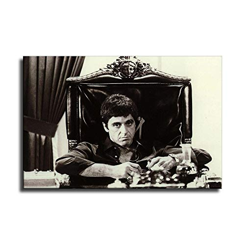 Scarface The World is Yours Canvas Art Poster and Wall Art Picture Print Modern Family Bedroom Decor Posters