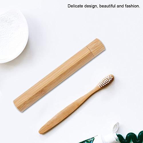 GXMZL Tandenborstelhouder, draagbare, milieuvriendelijke bamboe-tandenborstelhouder, voor badkamer