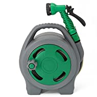 IDEAL FOR MULTIPLE USES– GloBrite hose reel is a versatile 10m hose reel that suited for all watering purposes in the home such as garden, patios, roof terraces, water pots and balconies. The hose is reinforced and supplied on a lightweight and compa...