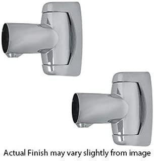 Shower Rod Swivel End Flange - Angled Shower Rod Mount