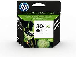 HP 304XL N9K08AE, Negro, Cartucho de Tinta de Alta Capacidad Original, compatible con impresoras de inyección de tinta...