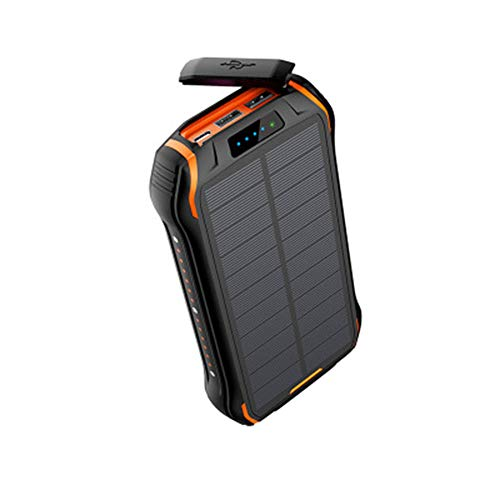 GPWDSN Solar-oplader, 26800 mAh, powerbank op zonne-energie, 15 W (5 V/3 A) snellaaduitgang, waterdicht, met twee USB-uitgangen 3,1 A en een uitgang type C en LED-zaklamp voor iOS, Samsung en meer