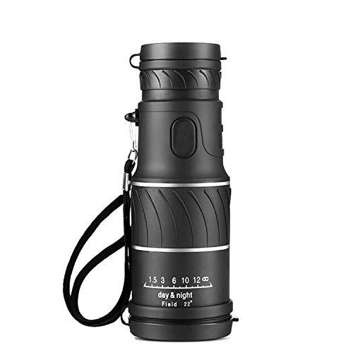 Lente monocular de Caza de 16 x 52 focos ópticos de Mano HD día visión Nocturna Viaje telescopio Alcance prismáticos Bolsillo