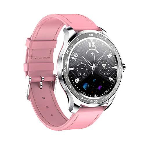 QFSLR Smartwatch,Pulsera Actividad Inteligente con Monitor De Frecuencia Cardíaca, Monitor De Presión Arterial Podómetro De Seguimiento para Android iOS,Rosado