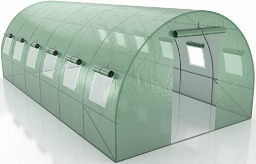Générique Invernadero de jardín túnel – Lona Armada – de 7 m2 a 18 m2 – de Polietileno Armado – Anti UV, 18m²