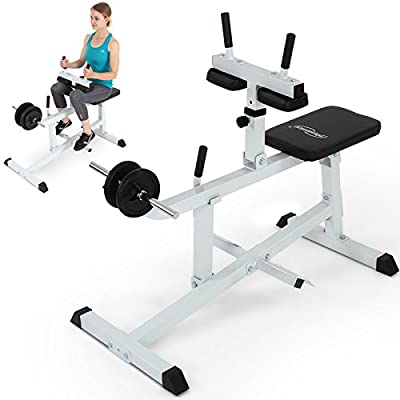 Physionics Seated Calf Raise Machine Exercise Bench Home Gym Weight Training Workout from Physionics