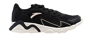 Anta Mesh Side-Logo Patterned Low-Top Lace-Up Sneakers For Women - Black, 40 EU