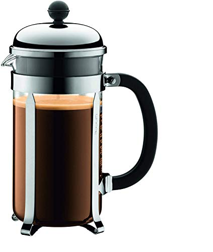 Bodum 1928-16US4 Chambord French Press Coffee Maker, 1 Liter, 34 Ounce, Chrome