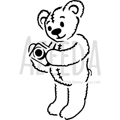 Groß A2 'Teddy mit Kamera' Wandschablone / Vorlage (WS00016883)