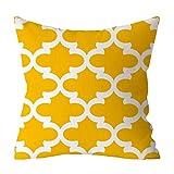 Willlly Geometrie print kussenhoes 45 x 45 cm geel voor kussens bankkussen ademend sofa kussen en decoratief kussen autostoelkussen hoge kwaliteit elegant wooncultuur