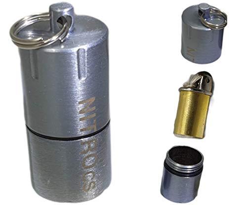 NITROcs Dauer Mini Feuerzeug Benzin - mit Schraubgewinde Outdoor Tactical Firestarter Pocketfire - Überall dabei