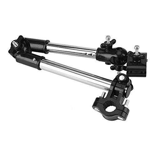 Regenschirmhalter, Smafox 360 ° Verstellbarer Regenschirm Stretch Mount Ständer Rollstuhl Fahrrad Kinderwagen Schwenkbarer Regenschirmanschluss(Schwarz)