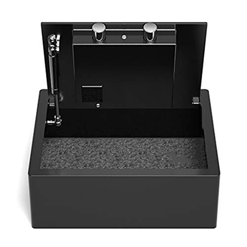 Cajas Fuertes Armario De Cabecera Negro Seguro Gabinete De Seguridad Oculto Cajón del Hogar Tipo De Elevación Mini Caja Fuerte De Acero Antirrobo (Color : Black, Size : 41 * 35 * 15cm)