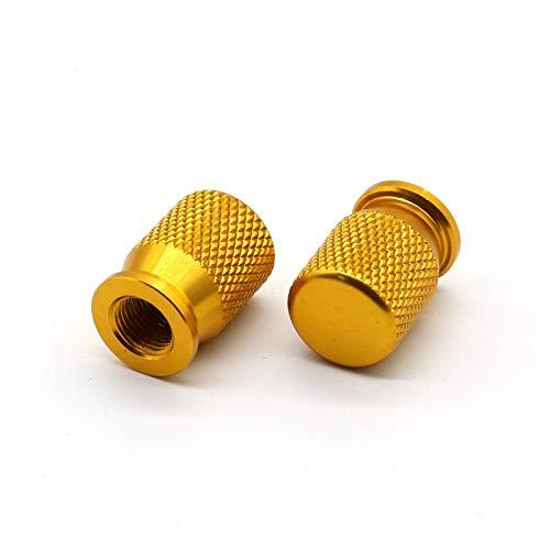 MUJUN Reserve Rad-Reifen-Gummireifen-Ventilkappen for BMW S1000RR S1000R S1000XR HP4 G310R F800GS F700GS R1200RT R1200GS / RS K1200LT K1200GT K1300 (Color : Gold)