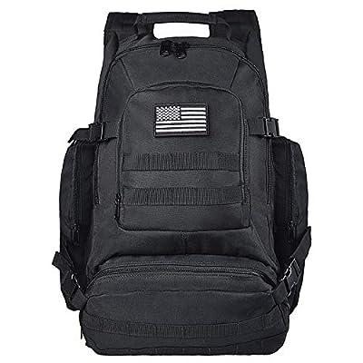 NOOLA Military Tactical Backpacks Large Army Assault Pack Molle Bag Rucksacks Black