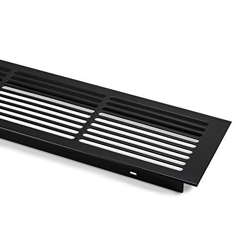 SO-TECH® Lüftungsgitter Aluminium 500 x 86 mm Abluftgitter Lüftungsblech schwarz