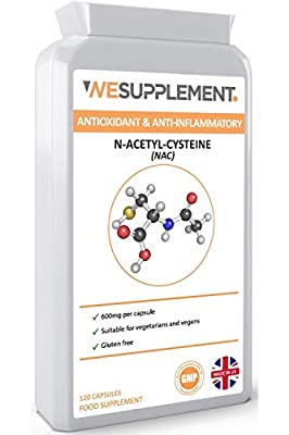 NAC N-Acetyl-Cysteine 600mg - 120 Vegan Capsules - for a Healthy Liver & Lung Function - Suitable for Vegetarians & Vegans - GMP Certified - UK Made