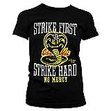Karate Kid Oficialmente Licenciado Cobra Kai No Mercy Mujer Camiseta (Negro), Large